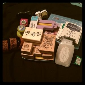 HUGE lot of stamping supplies